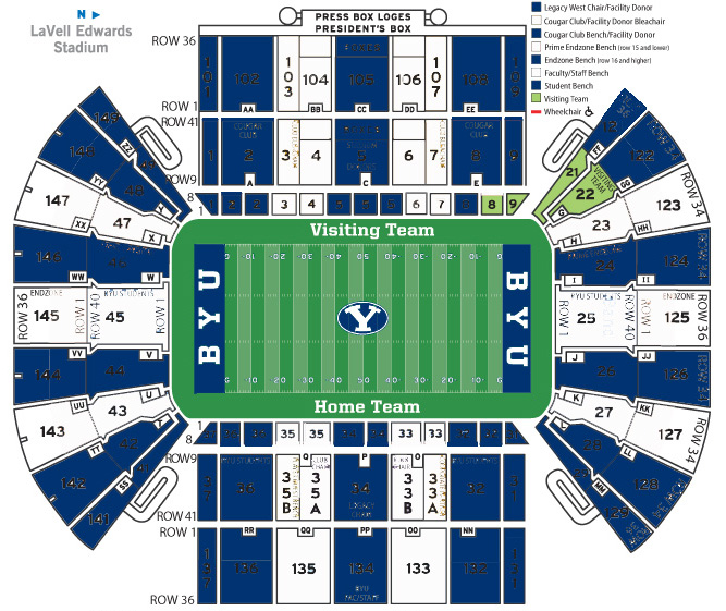 Lavell Edwards Stadium - Blue/White